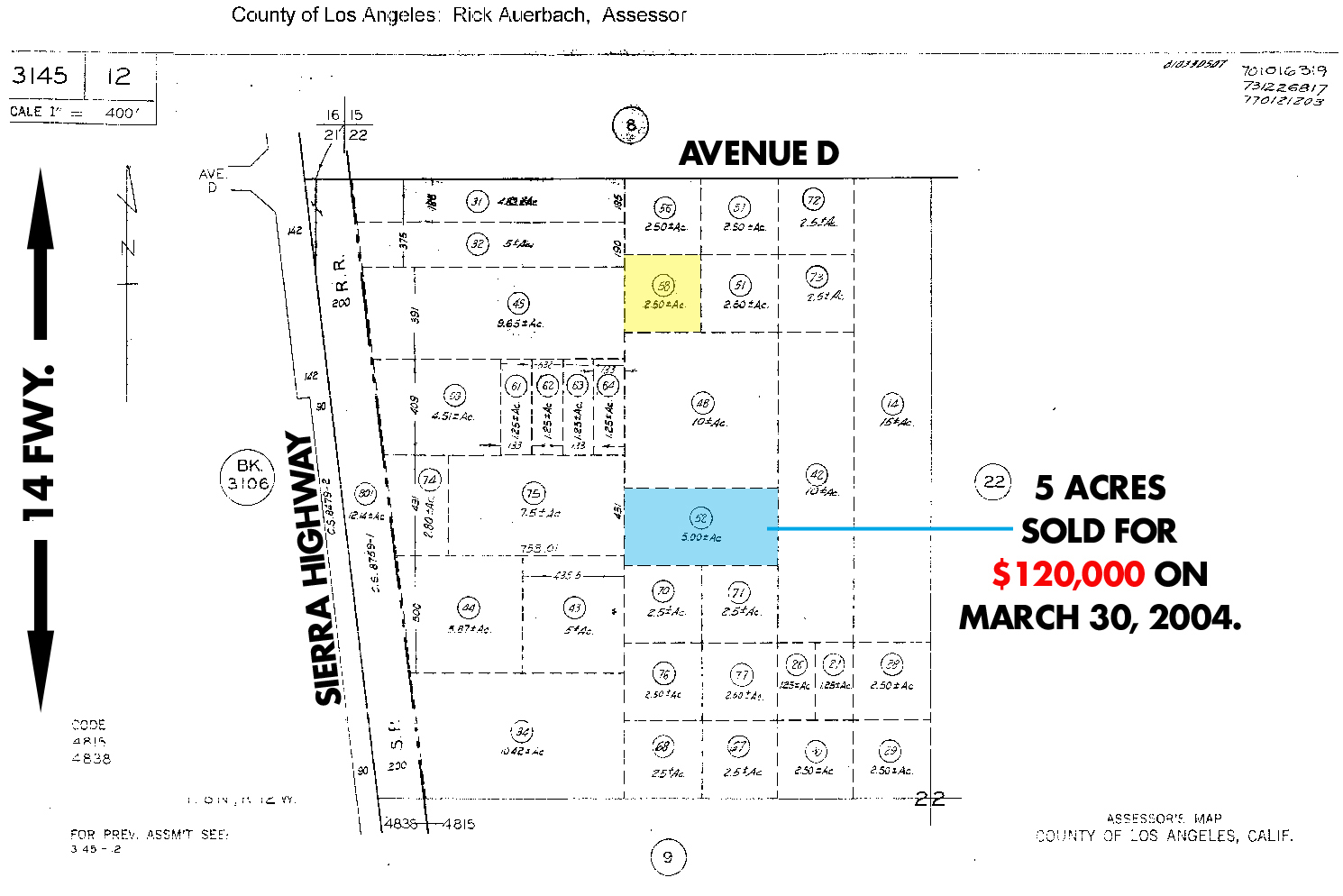 Los Angeles Land For Sale Lancaster Land For Sale Palmdale Land - Los angeles assessor map