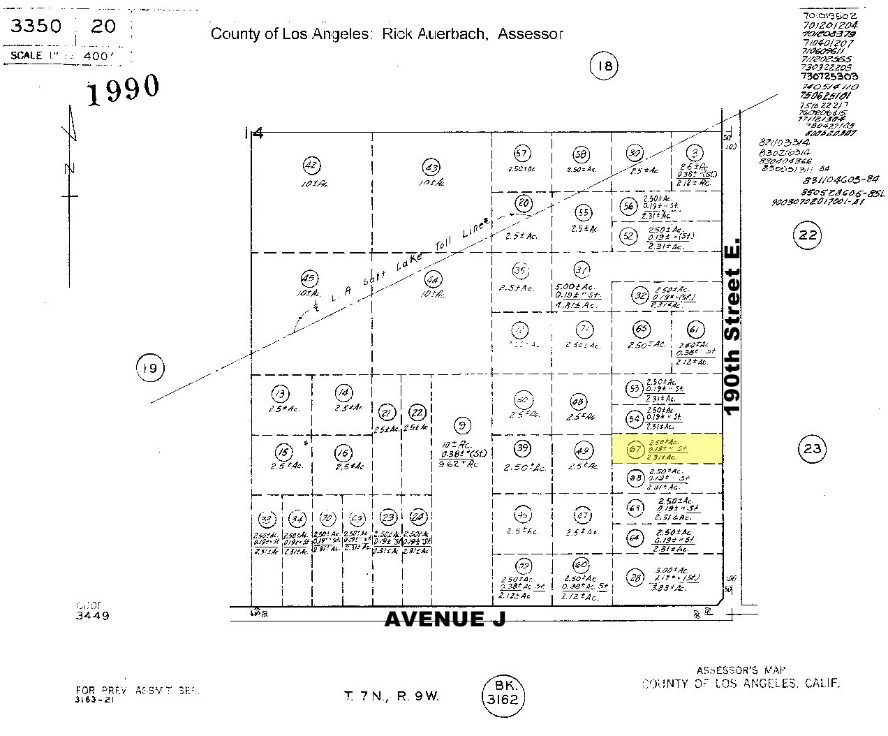 Lancaster Land For Sale In California Lancaster California - Los angeles assessor map