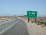 2.5 acres North of the 58 Freeway in Mojave, California for $14,900.
