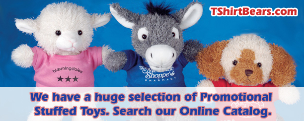 Buy Teddy bears with t-shirts featuring your logo or custom text. Custom Teddy Bears for sale.